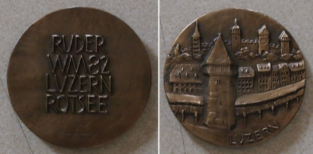 Medal with relief of Lucerne bridge
