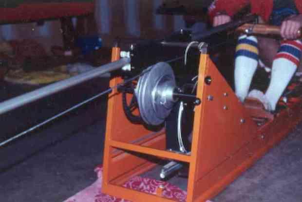 Orange rowing mahine
