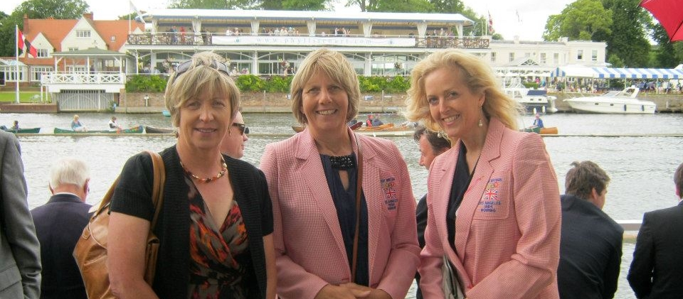 Gill Parker, Jean Genchi and Jo Toch in 1984 blazers at HRR