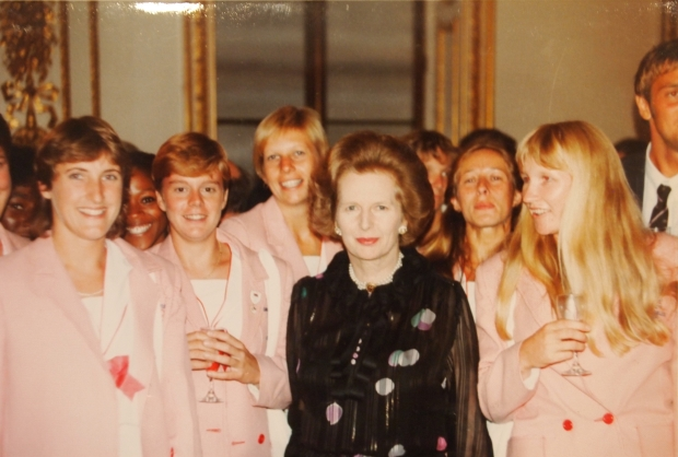 Olympic athletes with Prime Minister