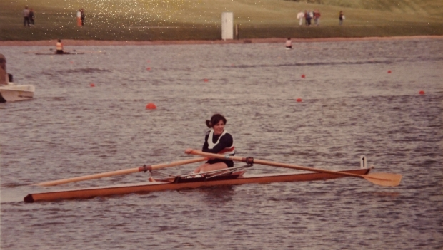 Beryl Mitchell in single scull
