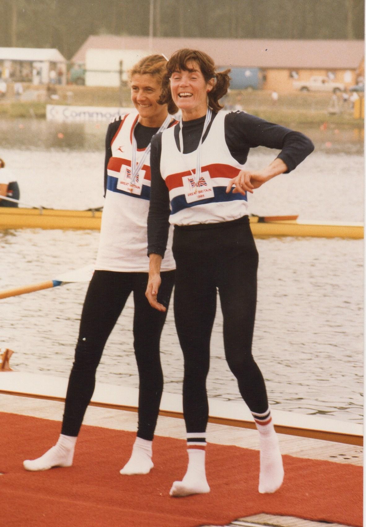 Lin and Beryl on presentation raft