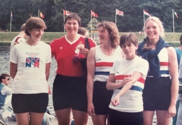 Women rowers in Amsterdam