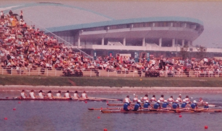 Three women's eights in Moscow