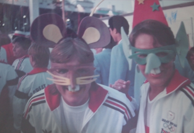 GB women rowers in animal masks