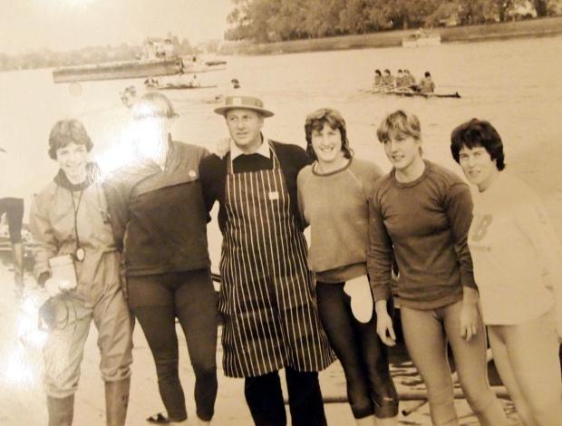 Women with butcher in Putney
