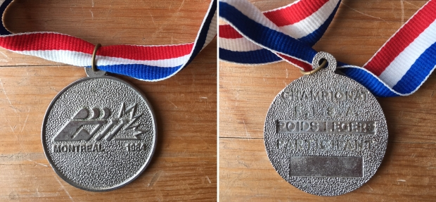 Montreal 1984 medal front and back