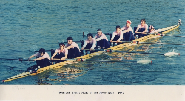 Women's eight in pink t-shirts