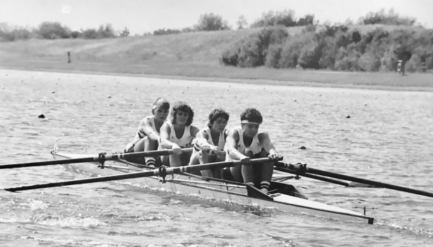 GB women's four in Empacher boat