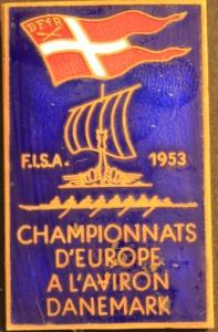 Royal blue pin badge