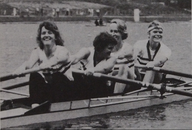 Women's four with medals
