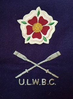 Purple scarf with ULWBC and tudor rose