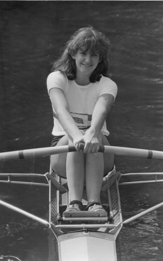 girl in sculling boat