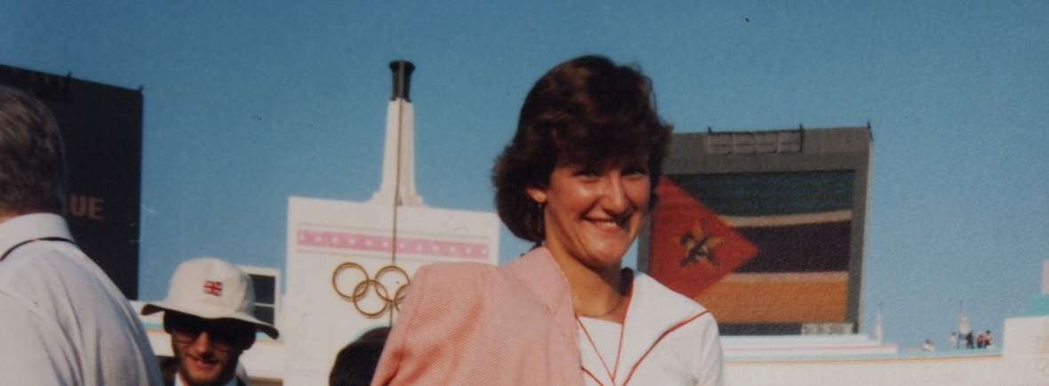 Kate Holroyd at 1984 Olympic Opening Ceremony