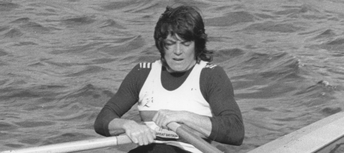Beryl sculling in rough water