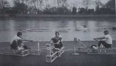 Three rowing machines