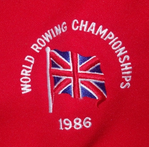 GB World Rowing Championships 1986 badge