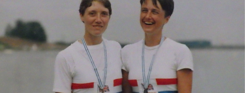 2 women with medals