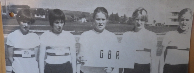 5 young women in GB kit