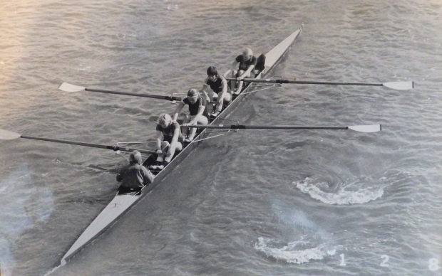 women's coxed four from overhead