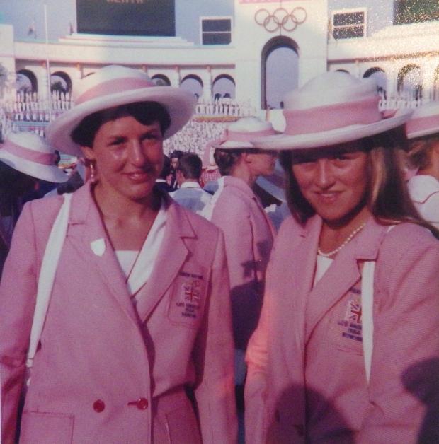 Two women in GB blazers