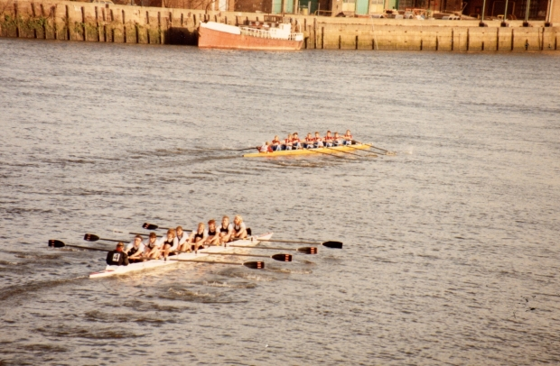 two eights racing