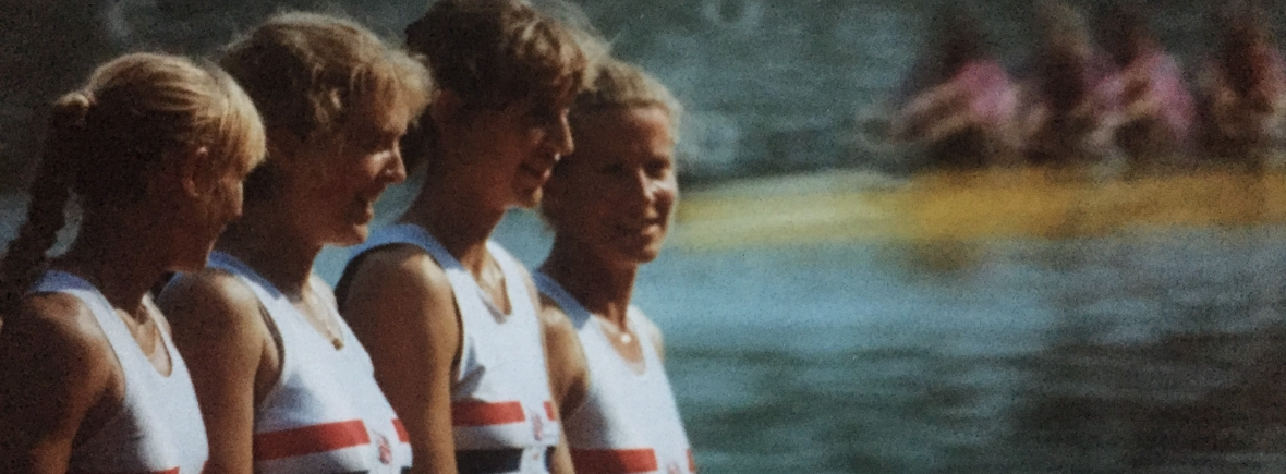 GB lightweight women's four 1990 (Photo: Sue Key's personal collection.)