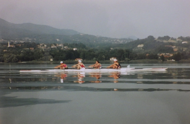 Women's four on flat water