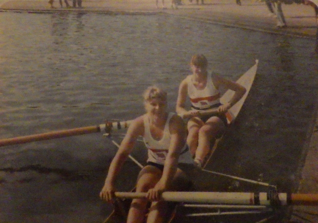 two girls in GB kit in pair