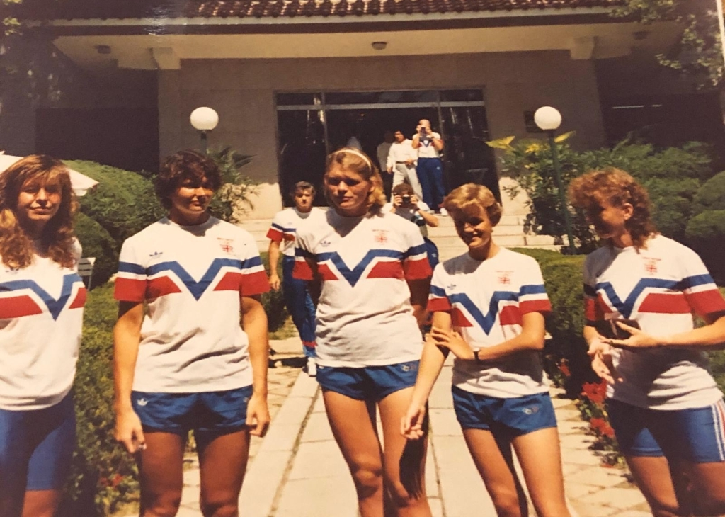 GB women's four in casual kit