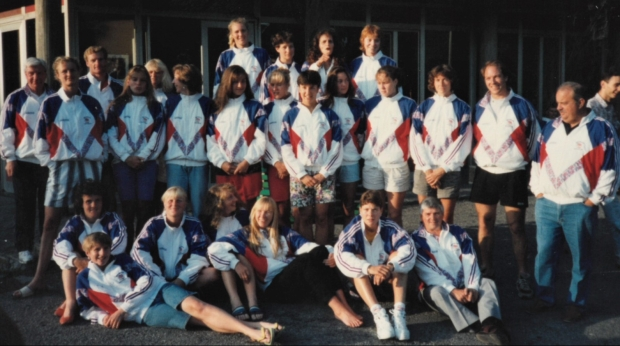 Group in GB tracksuit tops