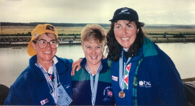 3 women with medals