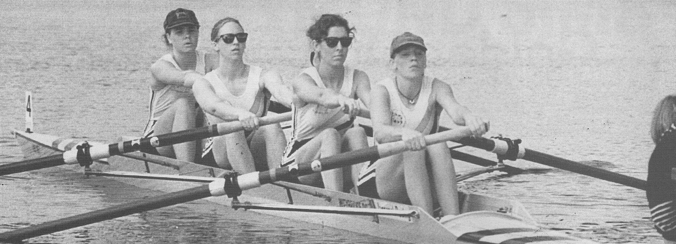 Women's four on start
