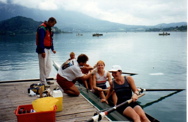women's four on raft