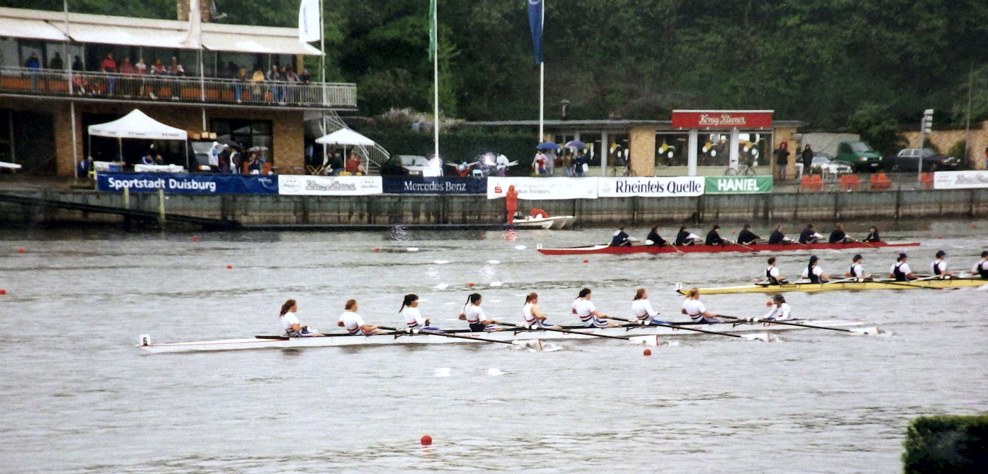 Women's eights racing