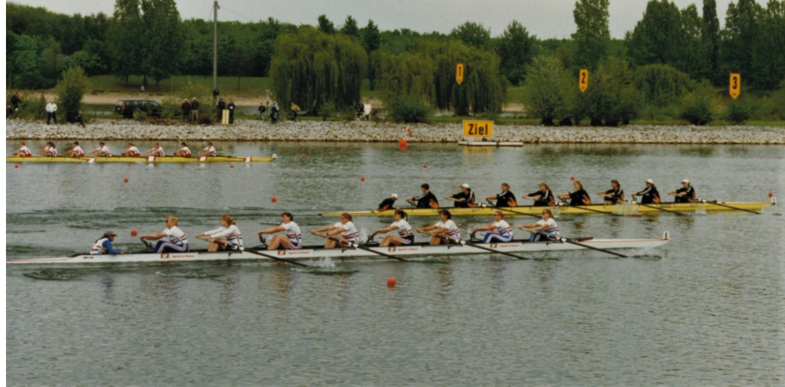 3 women's eights racing