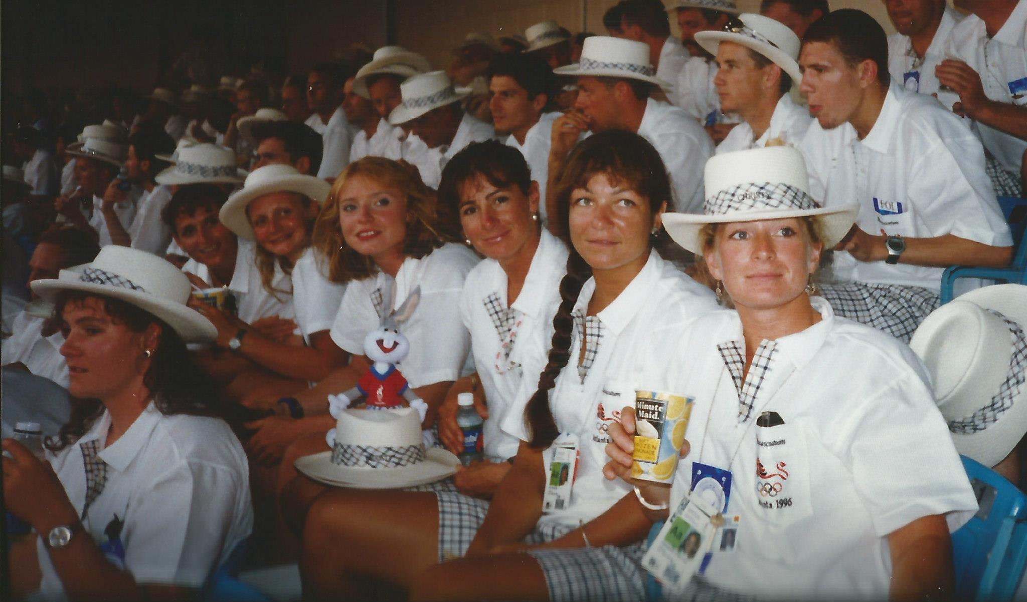 Women at opening ceremony