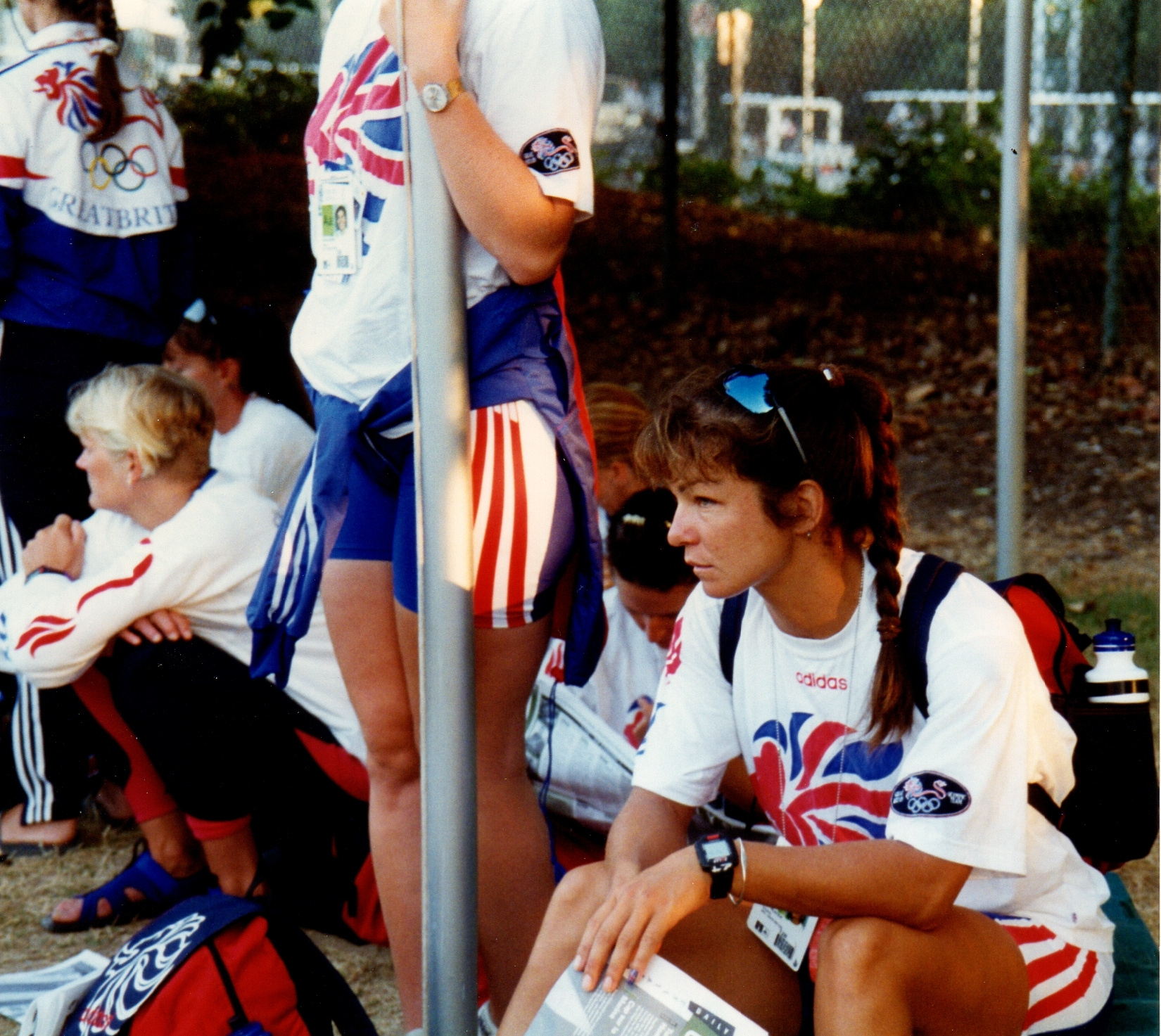 Frustrated GB rowers waiting for bus