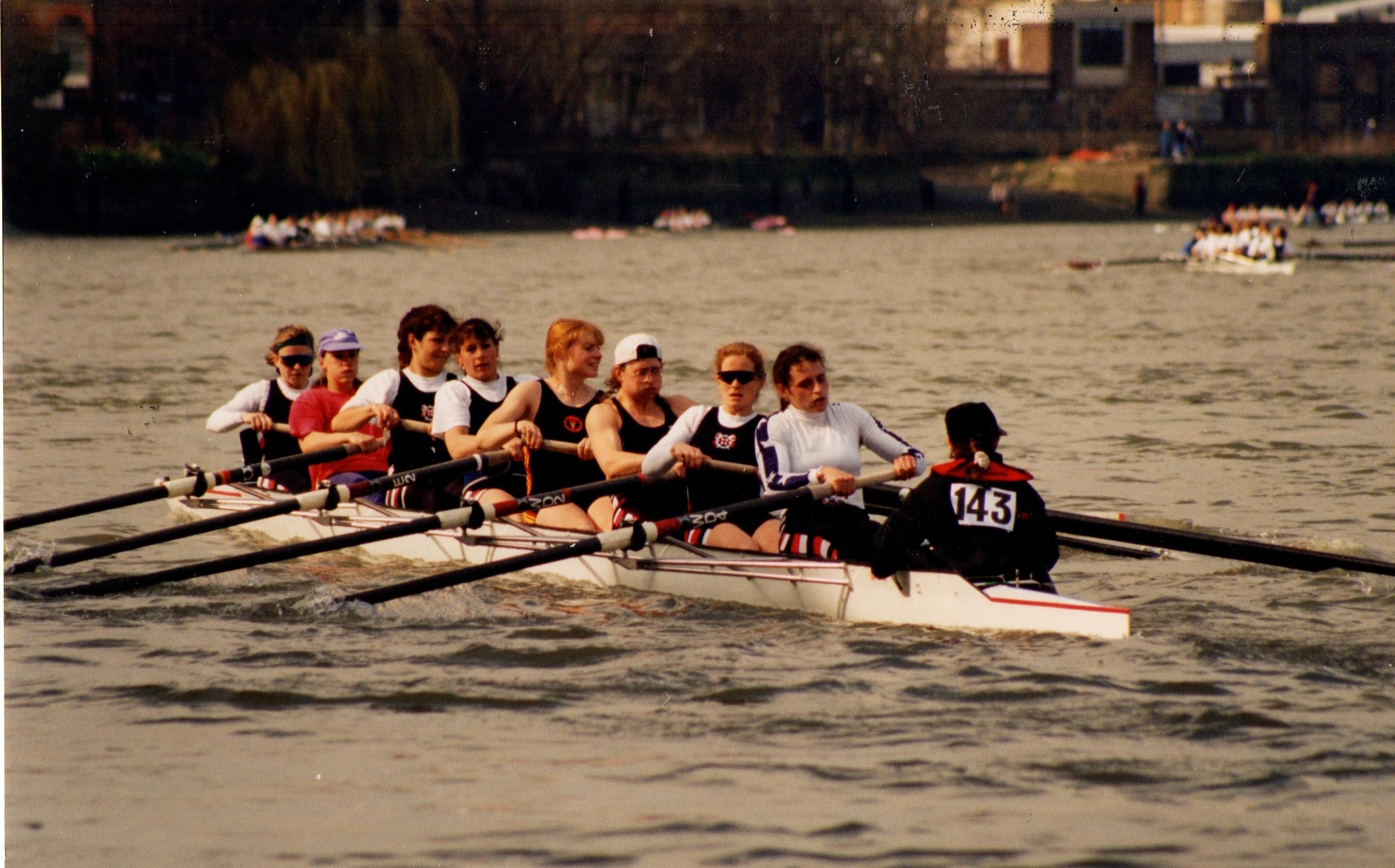 Women's eight racing