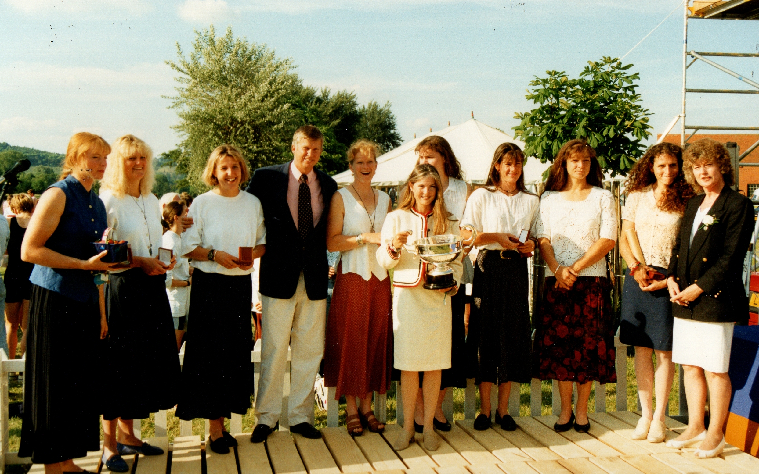 Women in skirts at presentation