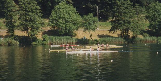 Five women's doubles racing