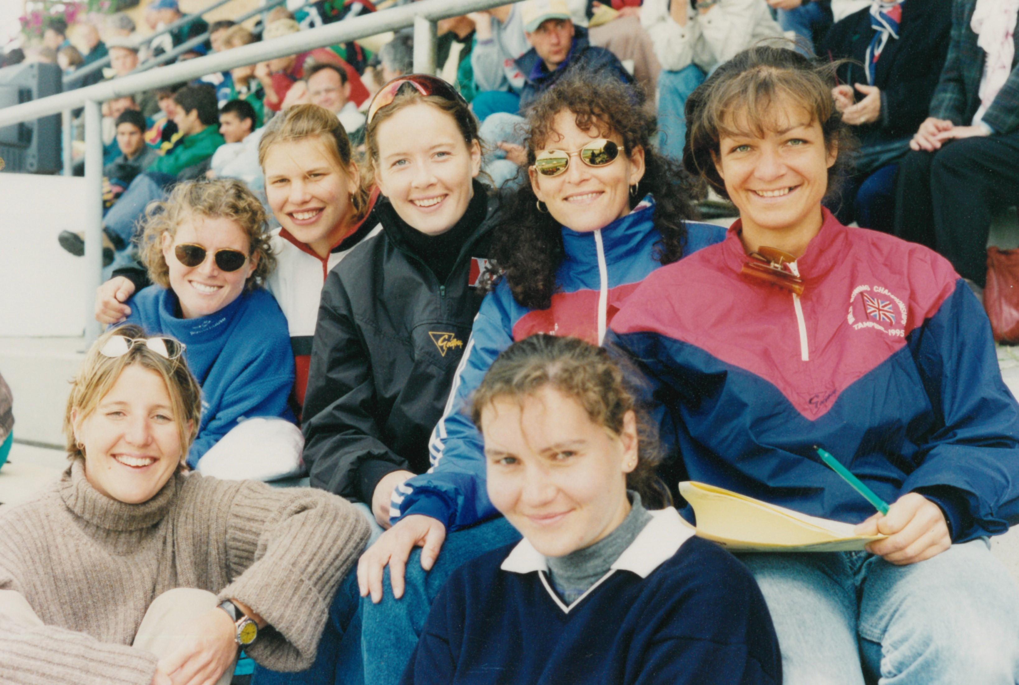 Women sitting in grandstand