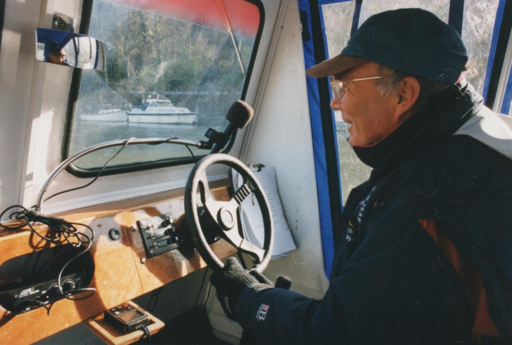 inside the catamaran