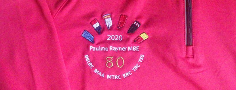 Embroidered logo: Pauline Rayner MBE 2020