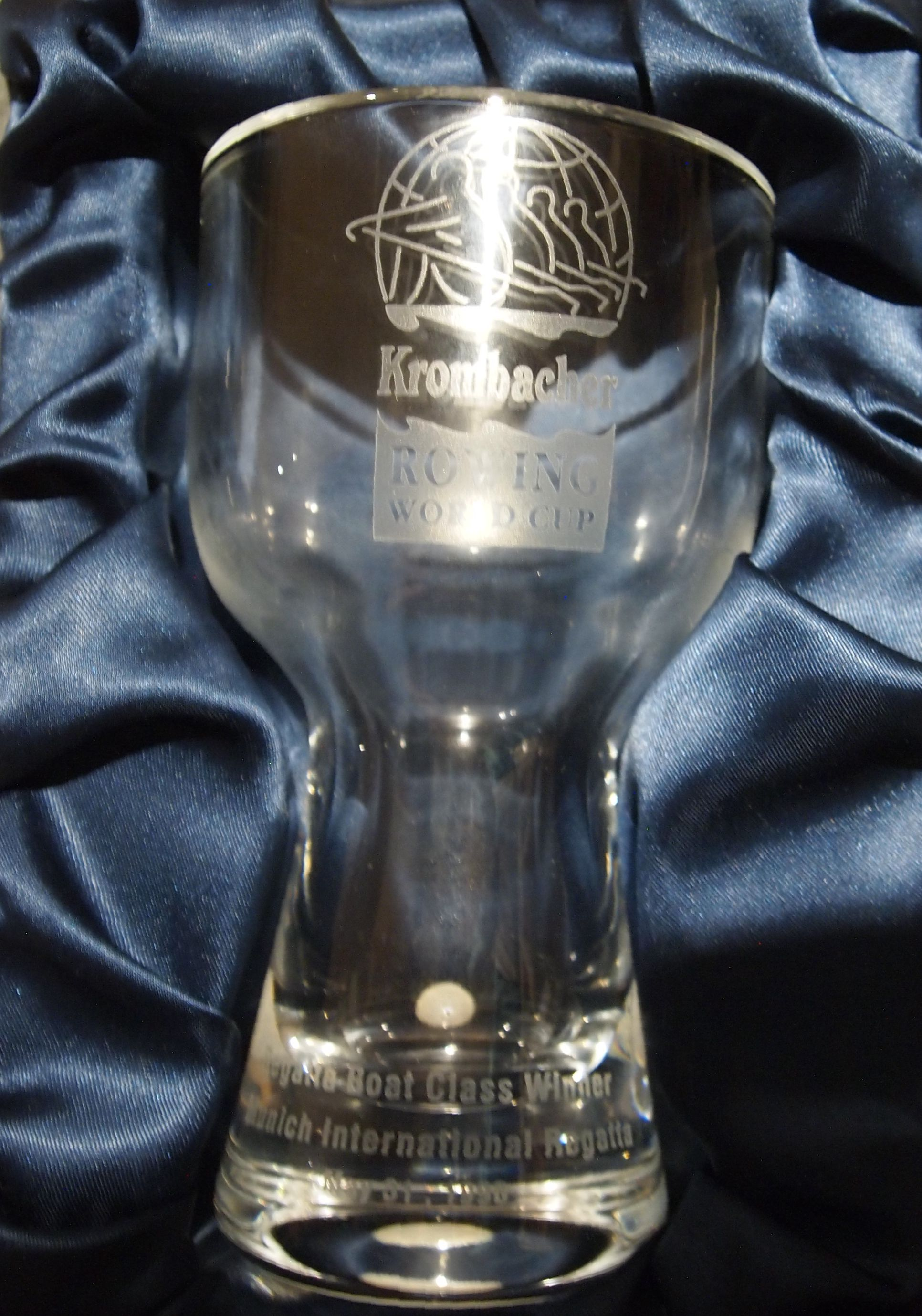 Glass vase: Krombacher Rowing World Cup