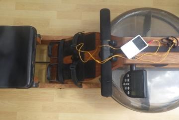 iPod on Waterrower rowing machine