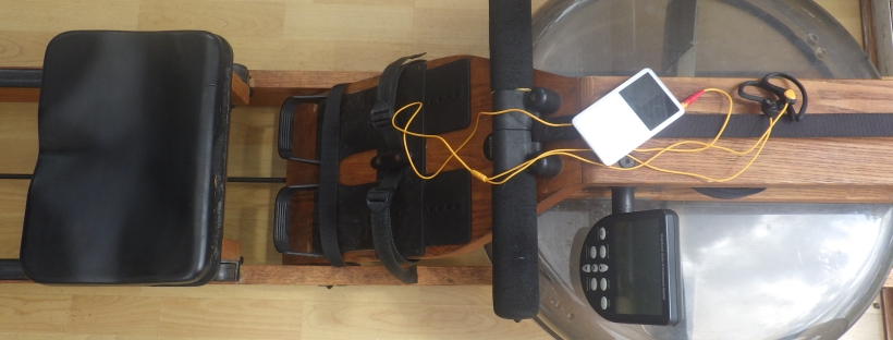 iPod on Waterrower rowing machine