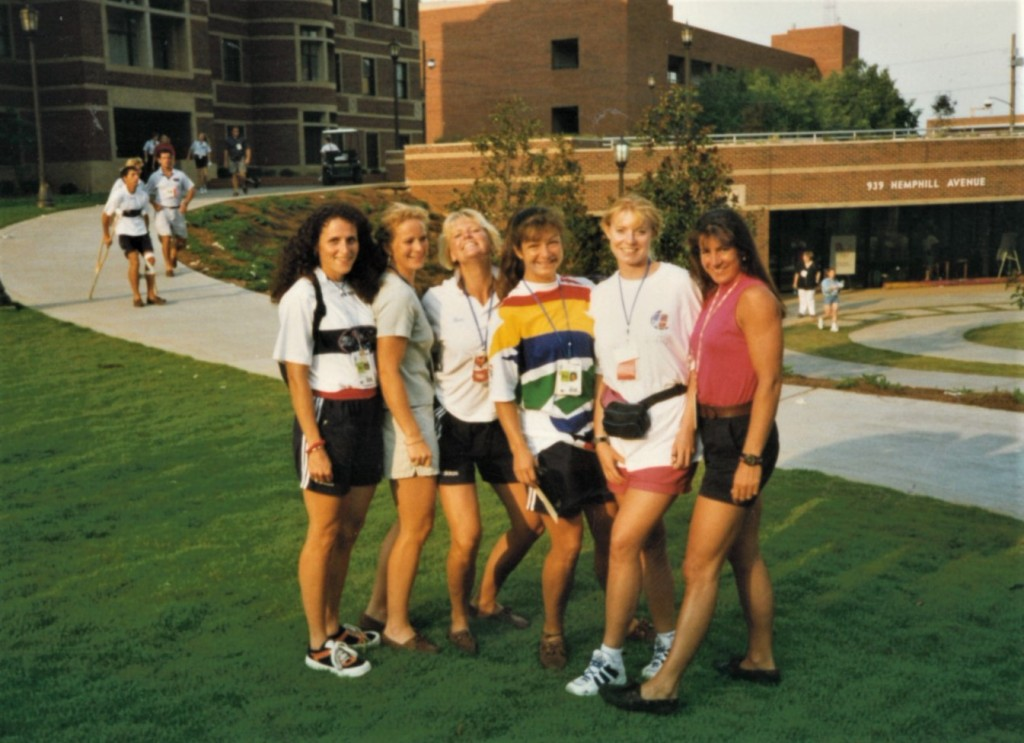 Women in shorts and t-shirts