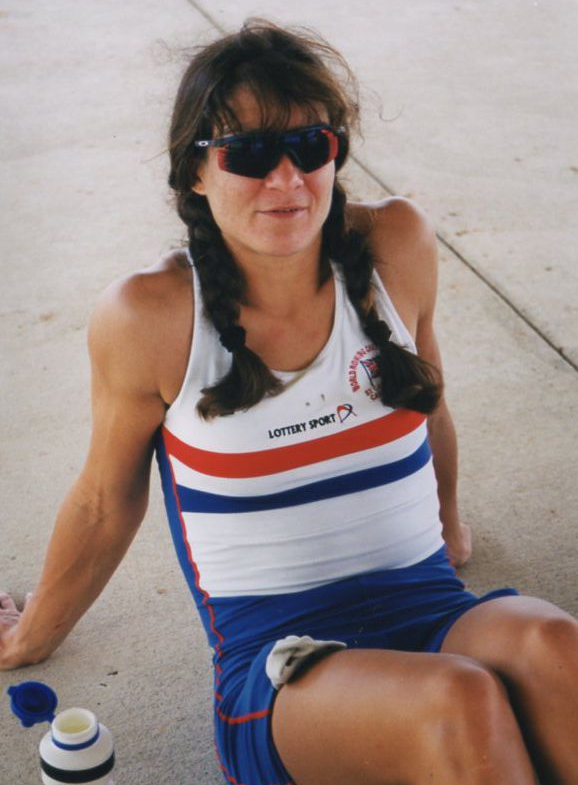 tanned woman in GB kit