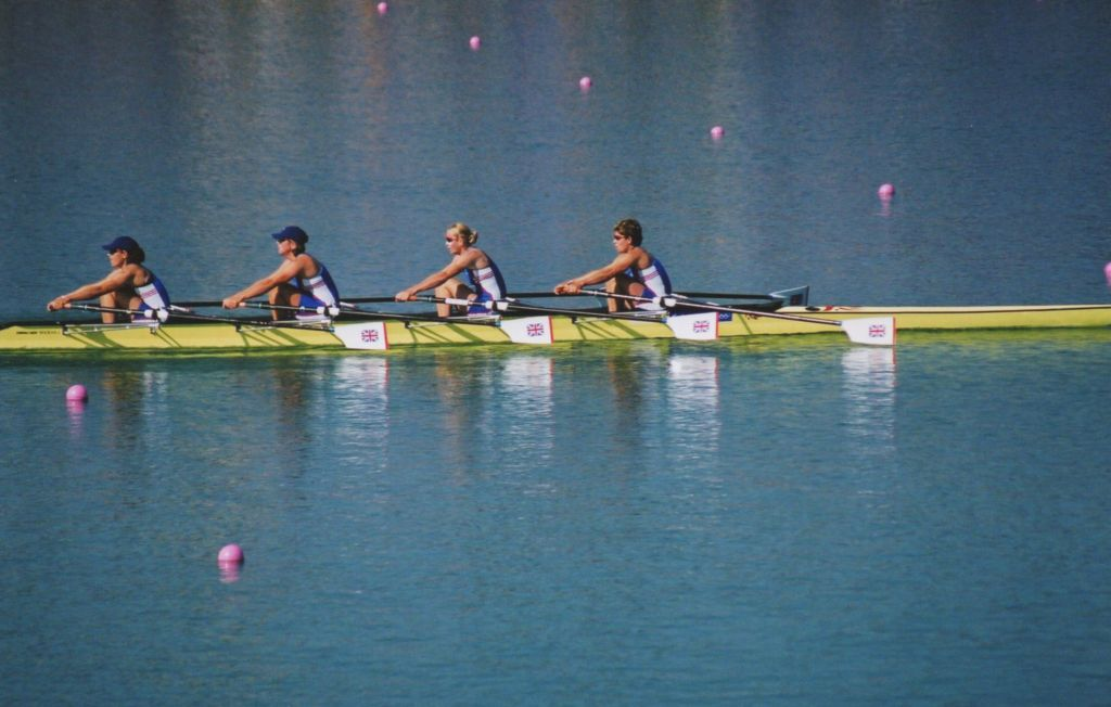 Women's quad, just before the catch